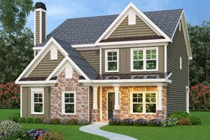 Traditional Exterior - Front Elevation Plan #419-313