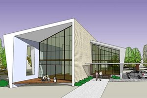 Modern Exterior - Front Elevation Plan #467-2
