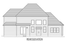Home Plan - Traditional Exterior - Rear Elevation Plan #1010-223