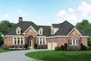 European Exterior - Front Elevation Plan #929-692