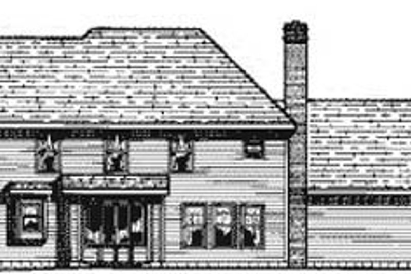 Traditional Exterior - Rear Elevation Plan #20-1123 - Houseplans.com