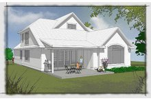 Home Plan - Traditional Exterior - Rear Elevation Plan #48-502