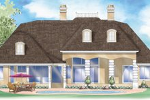 Classical Exterior - Rear Elevation Plan #930-303
