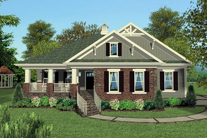 House Plan Design - Craftsman Exterior - Front Elevation Plan #56-700