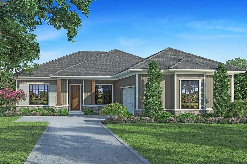 Architectural House Design - Craftsman Exterior - Front Elevation Plan #938-97