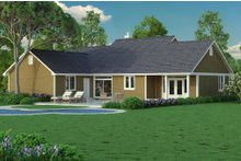 Dream House Plan - Ranch Exterior - Other Elevation Plan #18-4512