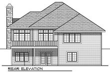 European Exterior - Rear Elevation Plan #70-860