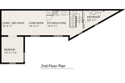 Modern Style House Plan - 1 Beds 1 Baths 983 Sq/Ft Plan #905-2 Floor Plan - Upper Floor