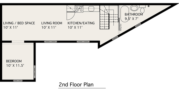 Modern Floor Plan - Upper Floor Plan #905-2