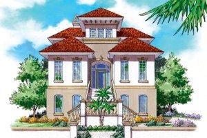 Architectural House Design - Mediterranean Exterior - Front Elevation Plan #930-149