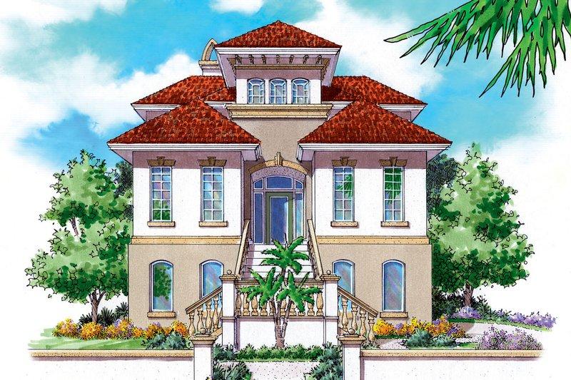 House Plan Design - Mediterranean Exterior - Front Elevation Plan #930-149