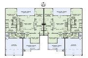 Craftsman Style House Plan - 4 Beds 2.5 Baths 5000 Sq/Ft Plan #17-2446 Floor Plan - Main Floor Plan