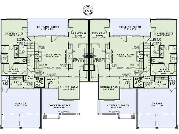 Craftsman Floor Plan - Main Floor Plan Plan #17-2446