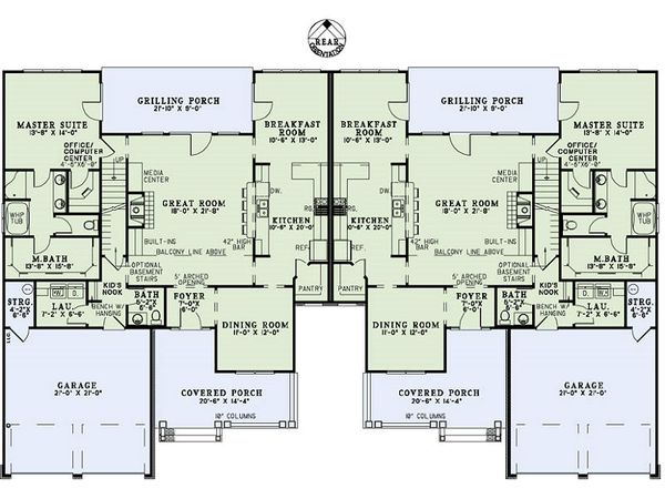 Craftsman Floor Plan - Main Floor Plan Plan #17-2446