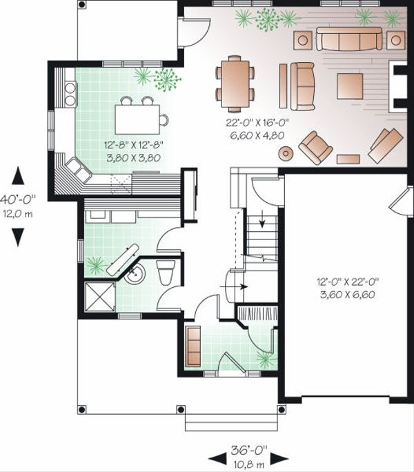 Dream House Plan - Farmhouse Floor Plan - Main Floor Plan #23-720
