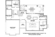 Farmhouse Floor Plan - Lower Floor Plan Plan #1069-17