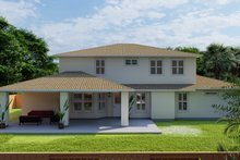 Mediterranean Exterior - Rear Elevation Plan #1060-29