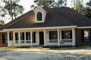 Colonial Style House Plan - 3 Beds 2.5 Baths 1785 Sq/Ft Plan #44-102 Exterior - Other Elevation