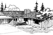 Ranch Style House Plan - 2 Beds 1 Baths 1652 Sq/Ft Plan #303-259 Exterior - Front Elevation