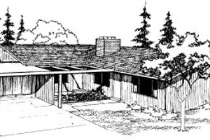 Ranch Exterior - Front Elevation Plan #303-259