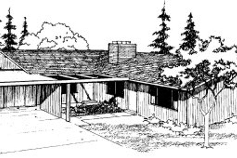 Ranch Style House Plan - 2 Beds 1 Baths 1652 Sq/Ft Plan #303-259