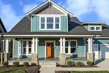 Dream House Plan - Craftsman Exterior - Front Elevation Plan #461-70