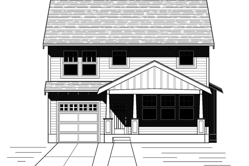 Craftsman Style House Plan - 3 Beds 2.5 Baths 1794 Sq/Ft Plan #423-64 Exterior - Front Elevation