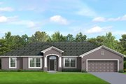 Ranch Style House Plan - 4 Beds 2 Baths 2282 Sq/Ft Plan #1058-191 Exterior - Front Elevation