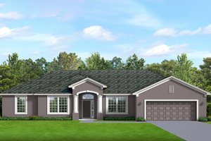 Ranch Exterior - Front Elevation Plan #1058-191