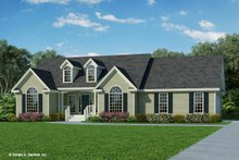 Architectural House Design - Ranch Exterior - Front Elevation Plan #929-356