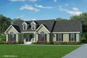 Ranch Exterior - Front Elevation Plan #929-356