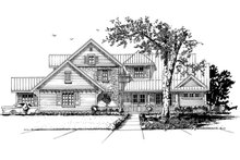 Country Exterior - Front Elevation Plan #942-56