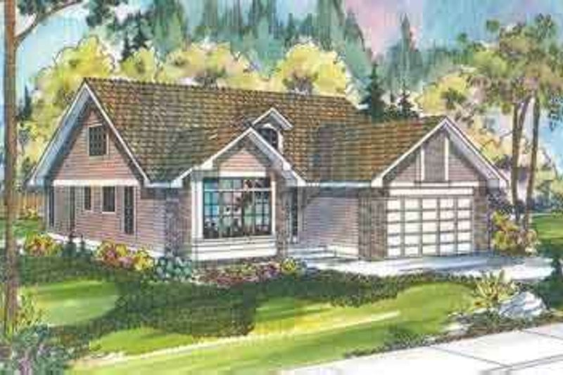 Traditional Exterior - Front Elevation Plan #124-403 - Houseplans.com