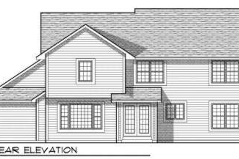 Traditional Exterior - Rear Elevation Plan #70-700 - Houseplans.com
