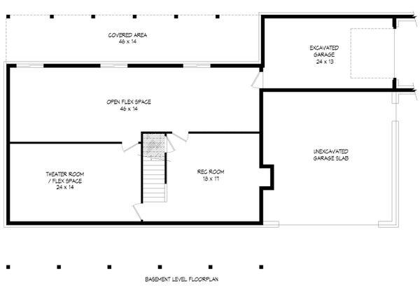 Country Floor Plan - Lower Floor Plan #932-207