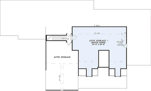 European Floor Plan - Upper Floor Plan Plan #17-2272