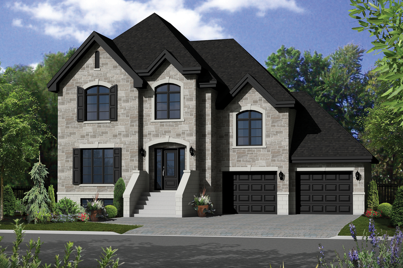 European Style House Plan - 3 Beds 2 Baths 2079 Sq/Ft Plan #25-4376 Exterior - Front Elevation