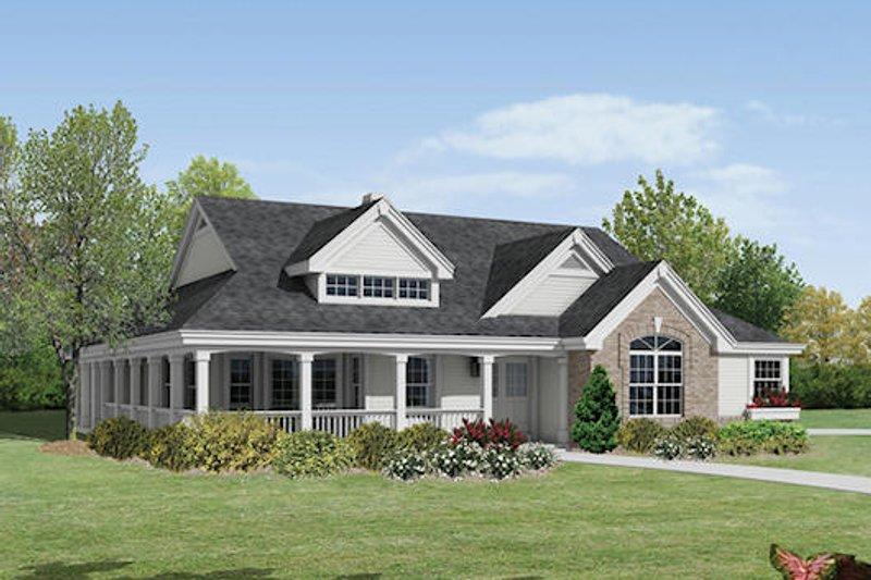 Farmhouse Exterior - Front Elevation Plan #57-377 - Houseplans.com