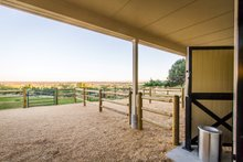 House Plan Design - Country Exterior - Outdoor Living Plan #451-30