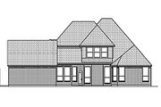 European Style House Plan - 4 Beds 3 Baths 2939 Sq/Ft Plan #84-463 Exterior - Rear Elevation