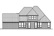 Dream House Plan - European Exterior - Rear Elevation Plan #84-463