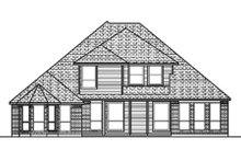 Home Plan - European Exterior - Rear Elevation Plan #84-402