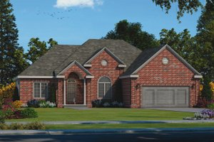House Blueprint - Traditional Exterior - Front Elevation Plan #20-2458