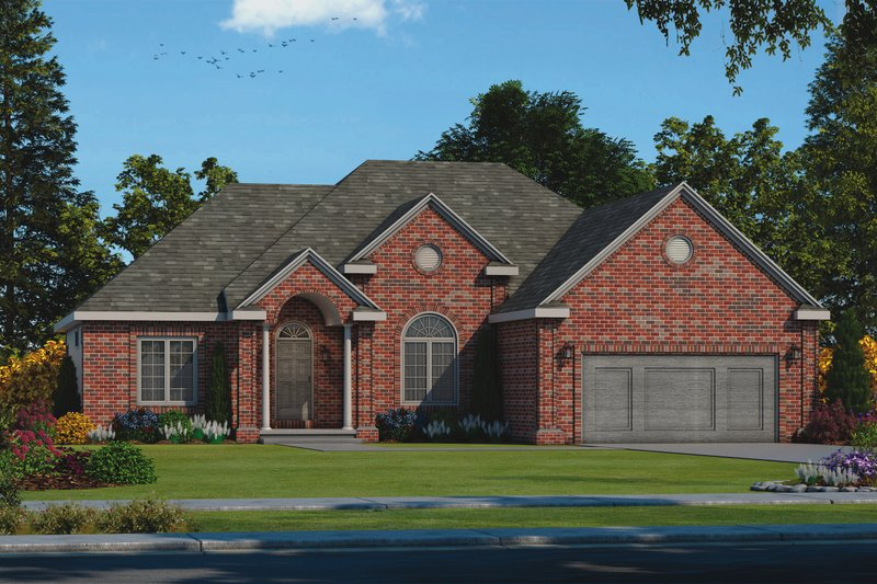 Architectural House Design - Traditional Exterior - Front Elevation Plan #20-2458