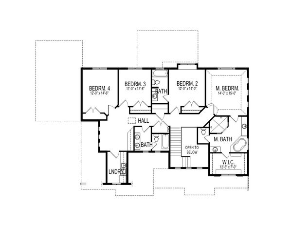 Craftsman Floor Plan - Upper Floor Plan Plan #920-4