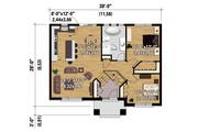 House Plan - 2 Beds 1 Baths 1014 Sq/Ft Plan #25-4269 Floor Plan - Main Floor Plan
