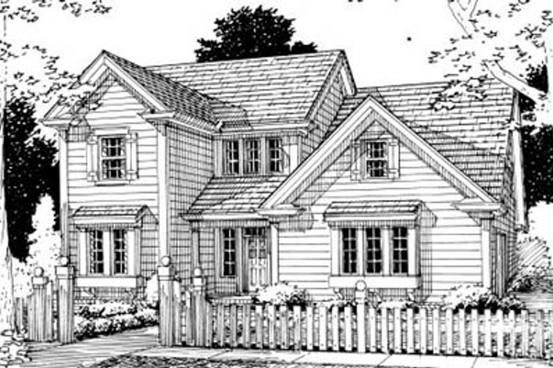 Country Style House Plan - 3 Beds 2.5 Baths 1704 Sq/Ft Plan #20-328
