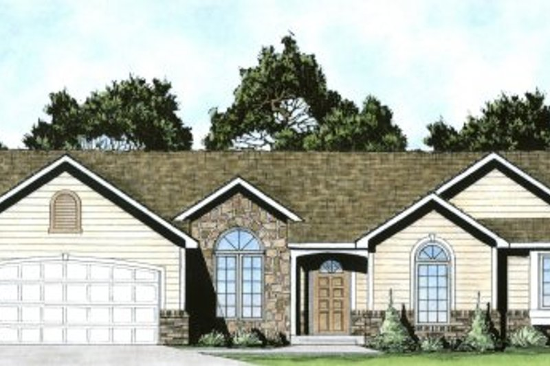 Traditional Exterior - Front Elevation Plan #58-194