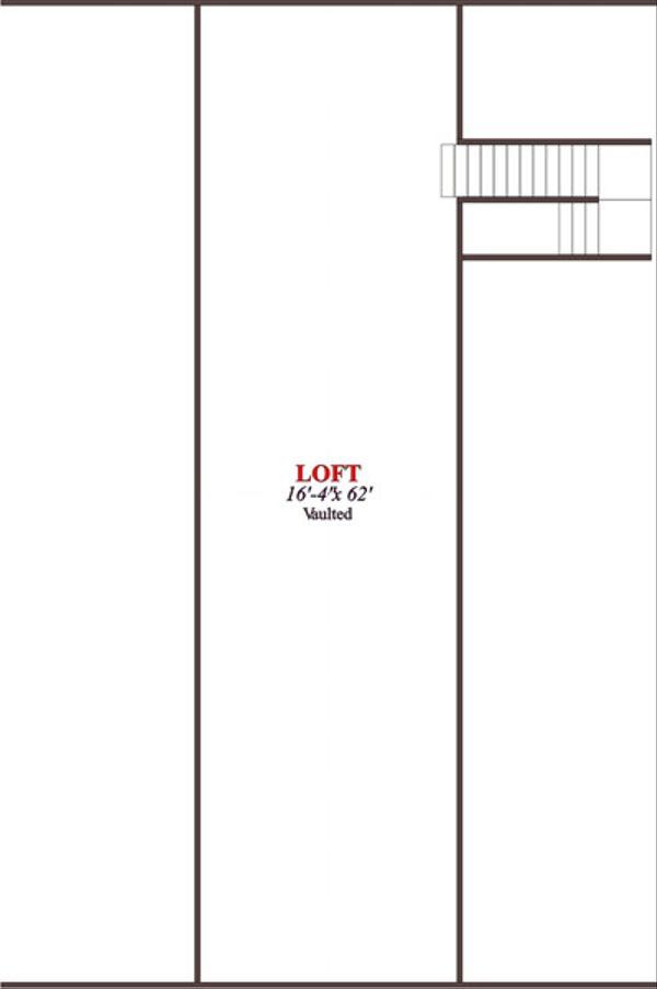 Country Floor Plan - Upper Floor Plan Plan #63-332