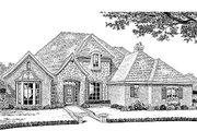 European Style House Plan - 4 Beds 2.5 Baths 3448 Sq/Ft Plan #310-939 Exterior - Front Elevation